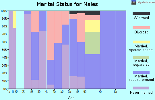 Zip code 39347 marital status for males