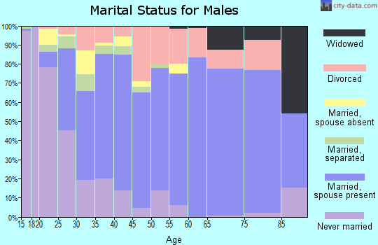Zip code 39452 marital status for males