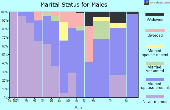 Zip code 39474 marital status for males