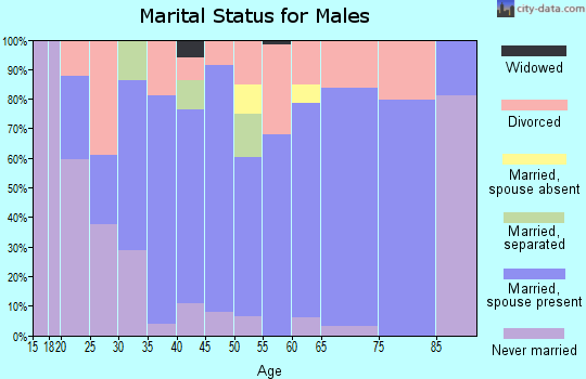 Zip code 39476 marital status for males