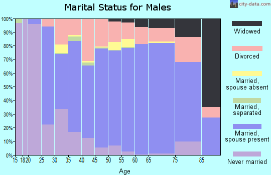Zip code 40165 marital status for males