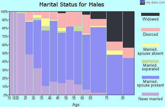 Zip code 40361 marital status for males