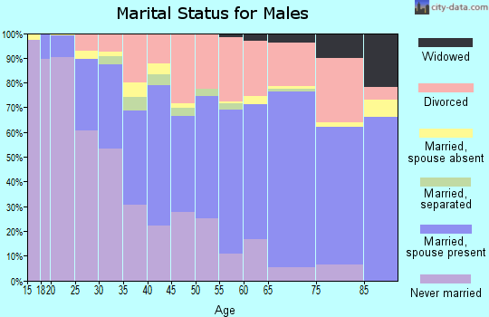 Zip code 40517 marital status for males