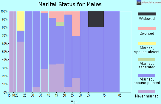 Zip code 41092 marital status for males