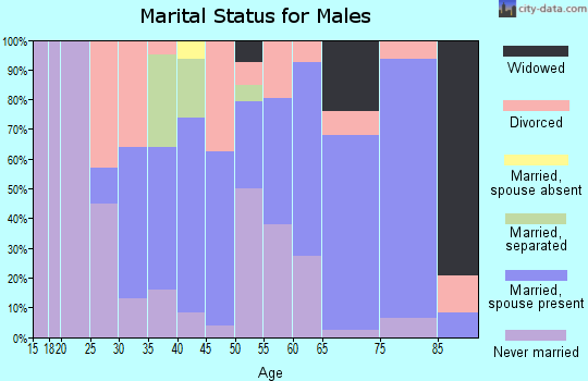 Zip code 41749 marital status for males