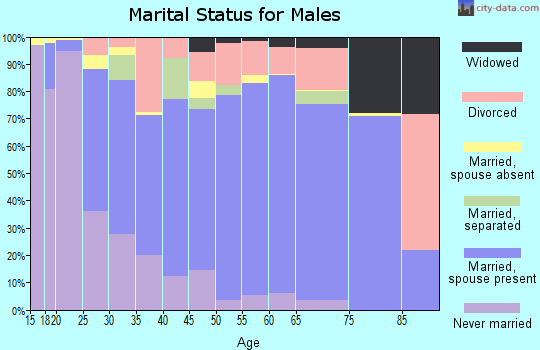 Zip code 42164 marital status for males