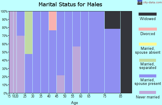 Zip code 42207 marital status for males