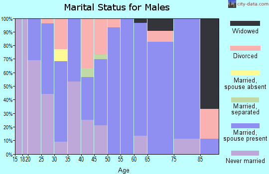 Zip code 42328 marital status for males