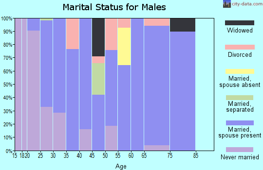 Zip code 42372 marital status for males