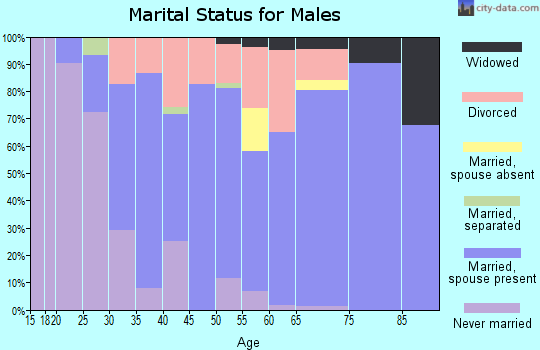 Zip code 42408 marital status for males