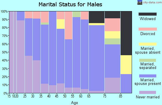 Zip code 42749 marital status for males