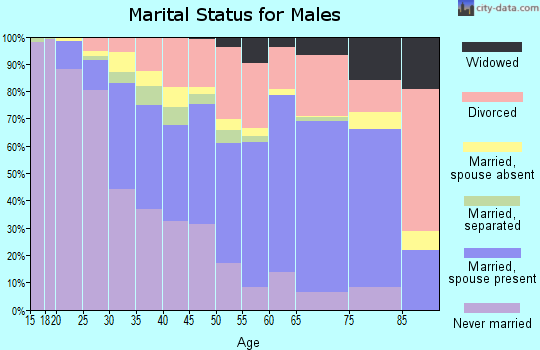 Zip code 43232 marital status for males