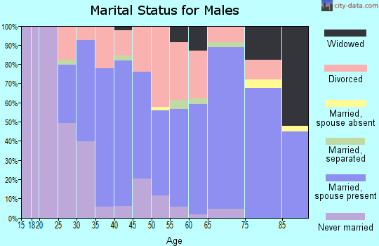Zip code 43326 marital status for males