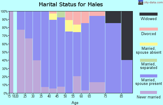 Zip code 43416 marital status for males
