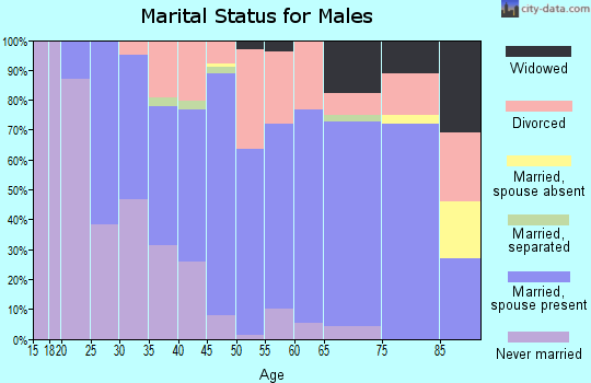 Zip code 43756 marital status for males