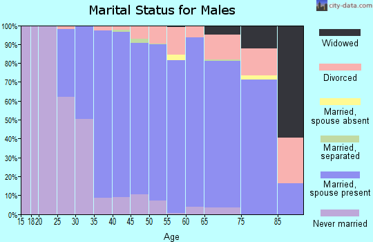 Zip code 44139 marital status for males
