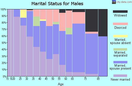Zip code 44314 marital status for males