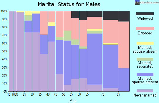 Zip code 44320 marital status for males