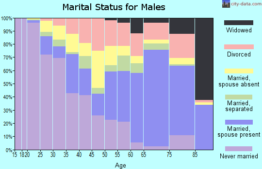 Zip code 44505 marital status for males