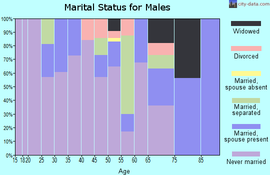 Zip code 44510 marital status for males