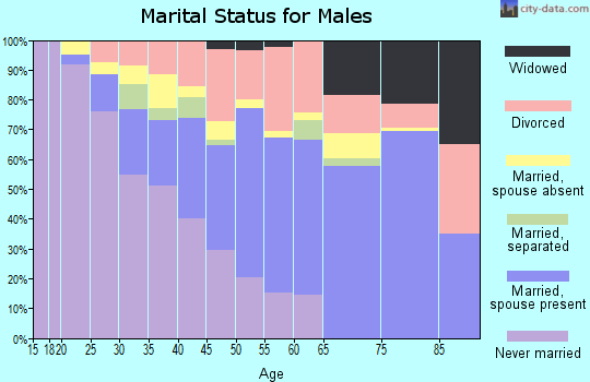 Zip code 44905 marital status for males
