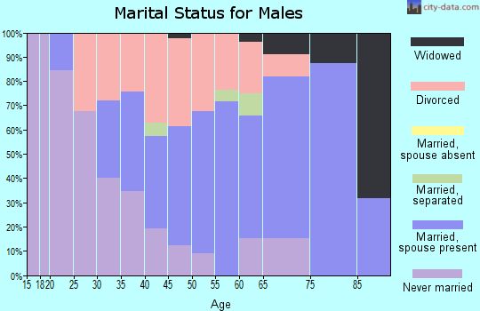 Zip code 45101 marital status for males