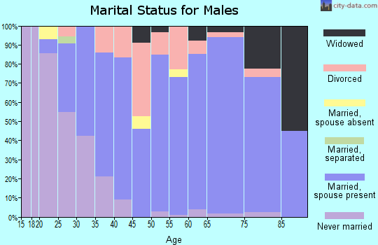 Zip code 45122 marital status for males