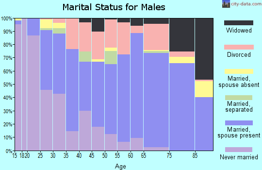 Zip code 45449 marital status for males