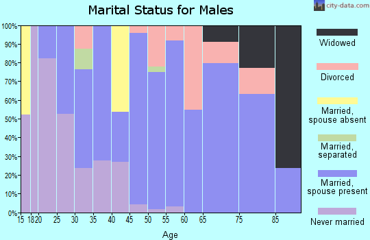 Zip code 45767 marital status for males