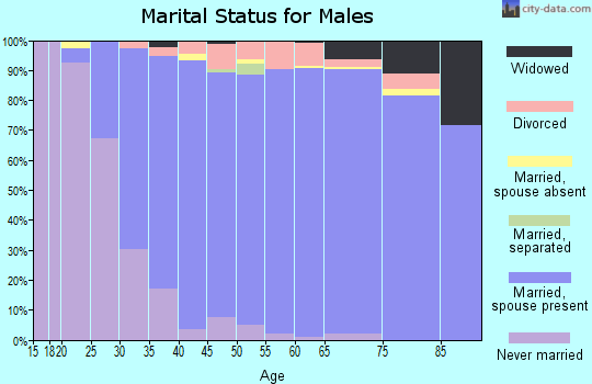 Zip code 46530 marital status for males