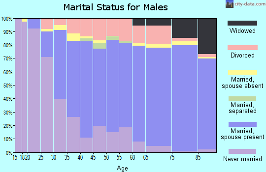 Zip code 46614 marital status for males