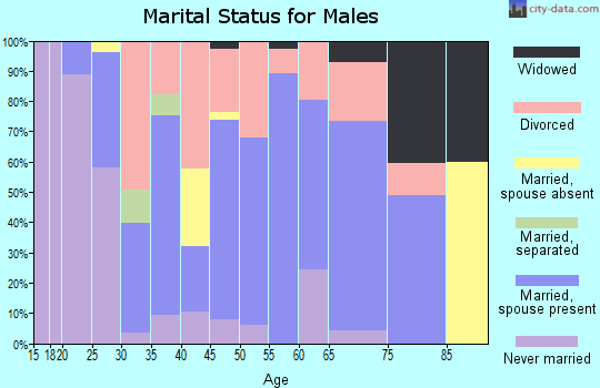Zip code 47438 marital status for males