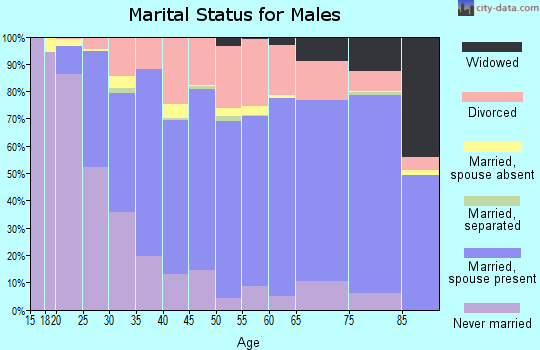 Zip code 47711 marital status for males
