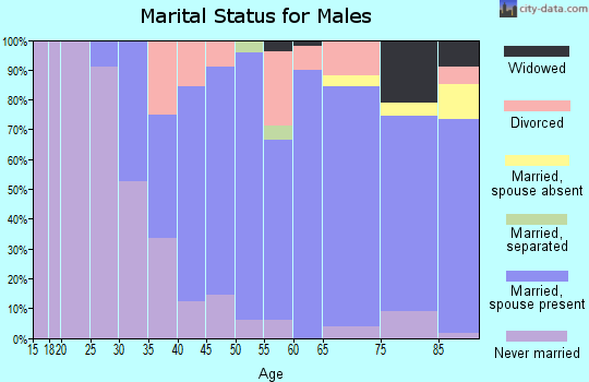 Zip code 48054 marital status for males