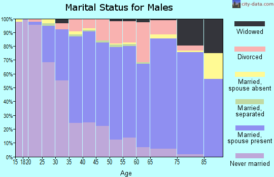 Zip code 48081 marital status for males