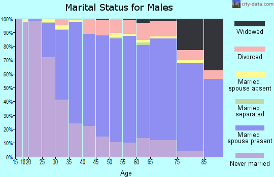 Zip code 48103 marital status for males