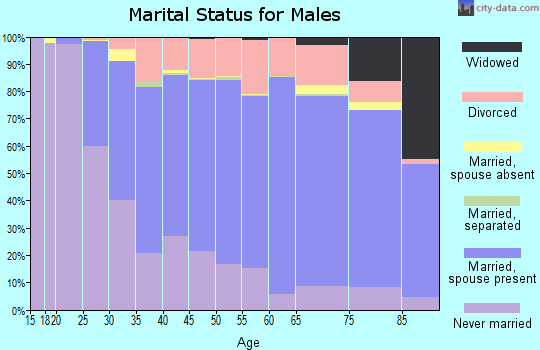 Zip code 48150 marital status for males