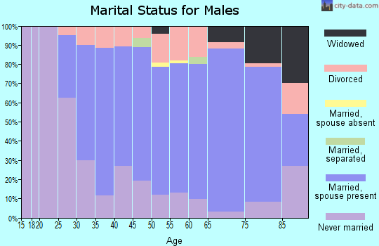 Zip code 48650 marital status for males