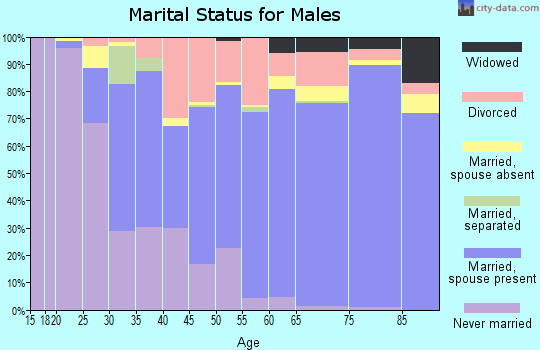 Zip code 48653 marital status for males