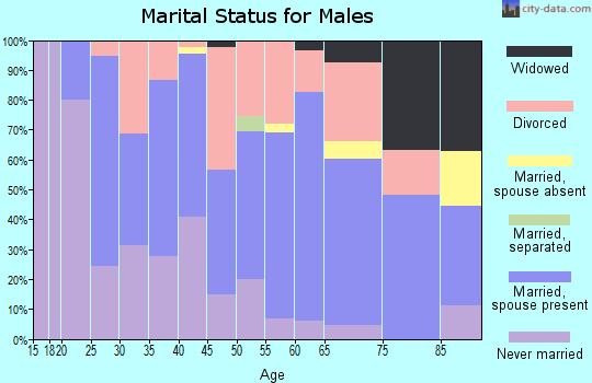 Zip code 48756 marital status for males