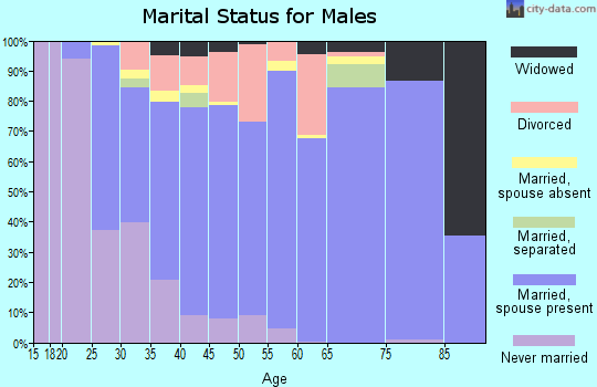 Zip code 48875 marital status for males