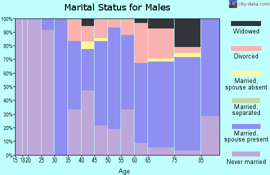 Zip code 49402 marital status for males