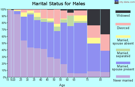 Zip code 49507 marital status for males