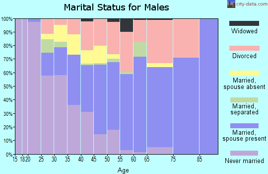 Zip code 49649 marital status for males