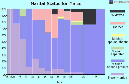 Zip code 49799 marital status for males