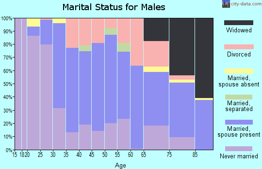 Zip code 49930 marital status for males