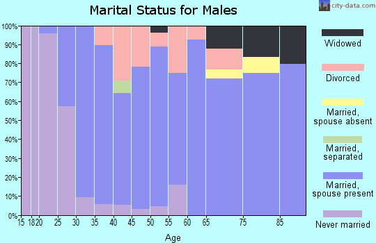 Zip code 50047 marital status for males