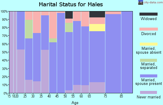Zip code 50170 marital status for males