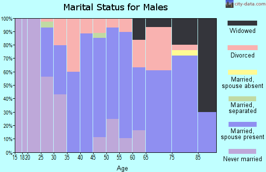 Zip code 50174 marital status for males