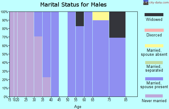 Zip code 50229 marital status for males